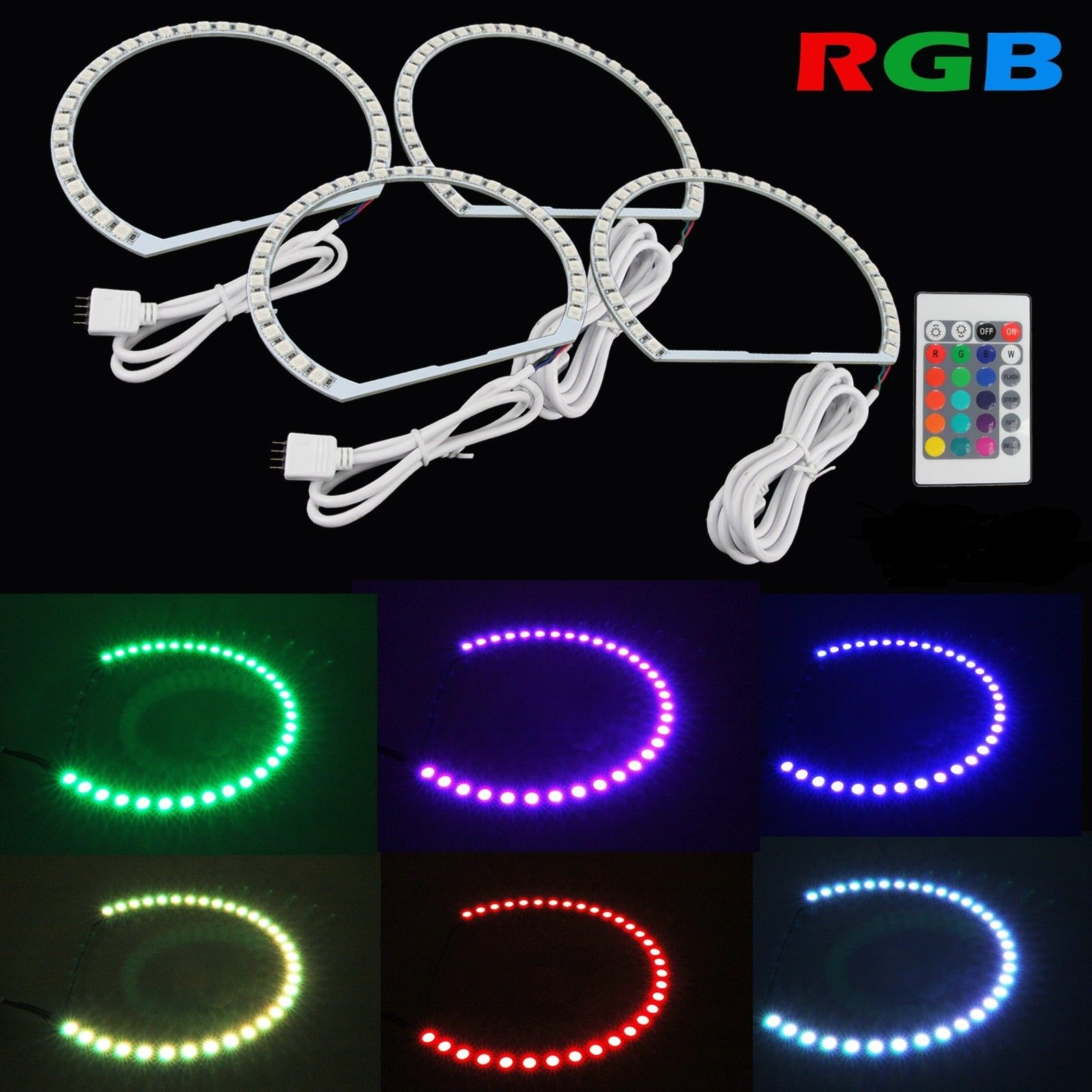 Kit Angel Eyes SMD RGB BMW E60 Seria 5
